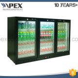 Aço inoxidável Porta tripla Porta traseira Cooler Under Bar Refrigerador