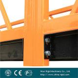 Zlp630 a peint la plate-forme de fonctionnement suspendue par nettoyage à vis en acier de façade d'étrier d'extrémité