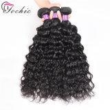 Бразильский человеческого волоса воды занос кривой 8A Реми Virgin необработанные влажных и волнистые 100g/PC черный цвет волос дешево Extensions