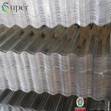 電流を通された金属の鉄の屋根ふきか電流を通された波形の鋼板