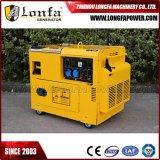 tipo silencioso refrigerado generador de 7kVA 7kw de la gasolina de la gasolina del alambre de cobre del 100%