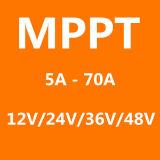 Contrôleur solaire bleu MPPT50A de charge/régulateur solaire évalué du système MPPT panneau solaire de 12V 24V