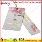 Packpapier-unregelmäßige Kennsatz-Marke für Kleid-Firmenzeichen-Druck-Willkommen