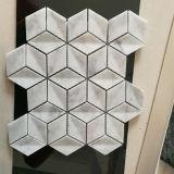 Tuiles de mosaïque de marbre blanches de Bianco Carrare pour la cuisine Backsplash et la salle de bains