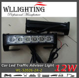Green White LED Traffic Advisor Veículo Flash Strobe Light Bar