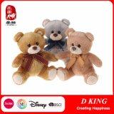 Urso macio da peluche dos brinquedos do animal do luxuoso com fita