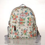 防水レトロの花のキャンバスのバックパック袋(23268-1)
