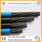 Sin adherir de acero trenzado recubierto de PE PC 12.7mm Strand