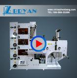 Impresión de etiquetas de Flexo con máquina de troquelado rotativo