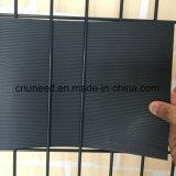 100%UV weerstand Ral7016 1.3mm de 19cm*2.53m Harde Omheining van de Tuin van pvc