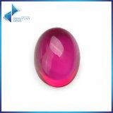 熱い販売の血のように赤い楕円形のカボション風の総合的なルビー色の宝石用原石