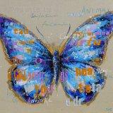 Peinture à l'huile moderne avec papillon pour décoration intérieure