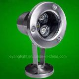 Iluminación impermeable impermeable 3W de Lightingpond de la charca ligera subacuática del LED
