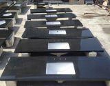 Шаньси черный черной краской гранитные плитки слоев REST