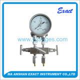 Todo el fabricante de China del calibrador de presión de diferencial del acero inoxidable buen
