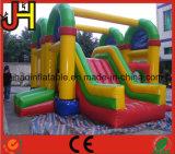 Castillo animoso inflable con Moonwalk de la diapositiva