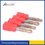 Режущий инструмент CNC круглого шарика карбида HRC55 для нержавеющей стали