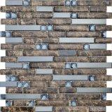 Плитка мозаики Backsplash белой прокладки плитки кристаллический стекла стеклянная
