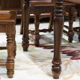 良質As837のホーム使用のための最新のシンプルな設計の純木の食堂テーブル