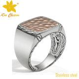 El anillo de dedo SSR-010 nuevo de la manera del acero inoxidable de cuatro
