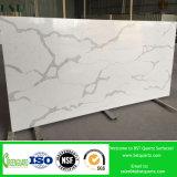 Calacattaの白い水晶石の平板
