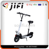 Scooter elétrico dobrável de duas rodas com sela opcional