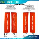 Bandierine di spiaggia stampate abitudine della lamierina della piuma con la parte inferiore ad angolo (NF04F06111)