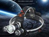 Scheinwerfer-Taschenlampe, die den nachladbaren 3 Xml T6 CREE LED wandert Scheinwerfer wandert
