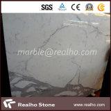 Piedra de mármol blanca de la losa Polished superior para la decoración de la pared