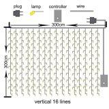IP65 LED im Freienweihnachtsvorhang-Eiszapfen-Zeichenkette-Lichter