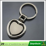 Forme de coeur de la chaîne de clé vierge avec votre logo