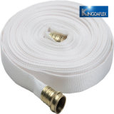 """Blanco 1"""" X 50' de molino de doble camisa la manguera de latón con manguera de jardín de rosca (GHT) Acoplamientos"""