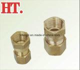 Conjunto de conector fêmea Brass Flare Comp americano com porca