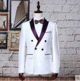 2016の顧客用最新のデザインコートの動悸の人のスーツ/Blackは適当な結婚式を細くする