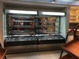 De hete Koeler van de Vertoning van de Showcase van het Gordijn van de Supermarkt van de Verkoop Commerciële Gekoelde