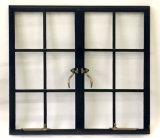 Portello francese e finestra d'acciaio del metallo con vetro Tempered