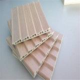 Ignifuger le panneau de mur décoratif en plastique en bois réutilisé du composé WPC