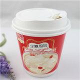 Logotipo impreso Diseño taza de papel de café con tapa