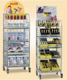 Den Draht-fördernden kundenspezifischen Kleinsupermarkt oben knallen, der Bildschirmanzeige-Wand-Speicher-Regal bekanntmacht