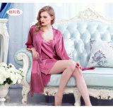 """Pijamas de seda Sy10308662 das mulheres """"sexy"""" do Nightwear da roupa de noite das senhoras da roupa interior"""
