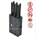 Alto potere Phone Signal Jammer Blocker, Mobile Signal Jammer, Signal Blocker per All 2g, 3G, 4G Cellular, Lojack GPS, WiFi 6 Bands