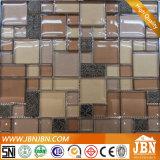 De color café mosaico de vidrio y resina para Hotel Wall (M855080)