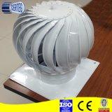 Telhado da turbina que gira respiradouros de ar cilíndricos