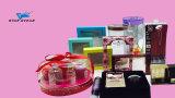 Caixa cosmética com a caixa do empacotamento plástico