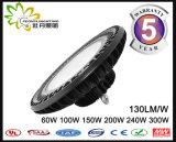 LEIDENE van het UFO 130lm/W van Ce RoHS Goedgekeurde Highbay Lichte 100W, LEIDENE van het UFO Industriële Verlichting, de LEIDENE Industriële Verlichting van de Baai Hig