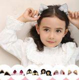 1台のペアのかわいい女の赤ちゃんの子供猫耳のヘアピンヘアークリップのBarretteのアクセサリ