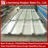 Placa de material para techos acanalada revestida del metal de construcción del color impermeable del material PPGI