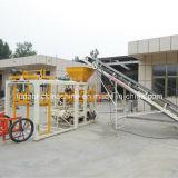 Concreto Semi automático que bloqueia a máquina de fatura de tijolo contínuo