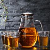 Taza de té de la pared del doble del vidrio de vino de la taza del vidrio de Borosilicate del octágono/del hexágono