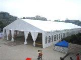 Barraca ao ar livre de alumínio revestida do banquete de casamento do telhado do PVC para eventos ao ar livre
